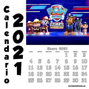 Calendario Patrulla Canina 2021