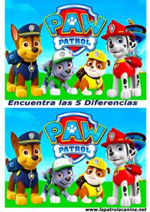 encuentra las diferencias patrulla canina