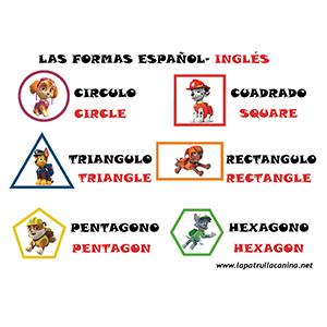 Figuras geometricas Patrulla Canina