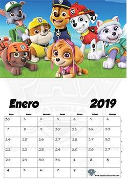 Calendario de La Patrulla Canina A4