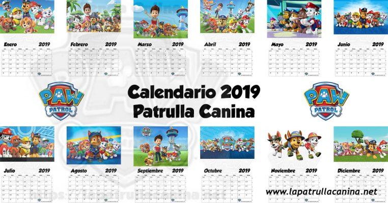 Calendario Patrulla Canina 2019