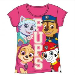 camiseta patrulla canina rosa