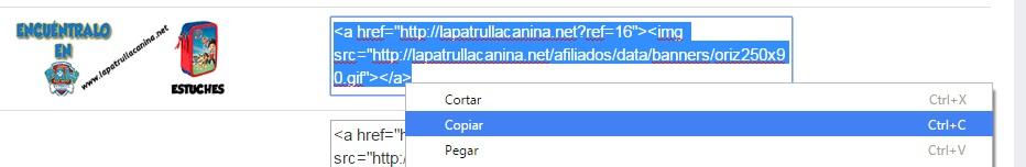 copiar banner afiliado
