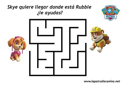 Laberintos Infantiles De La Patrulla Canina