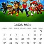 calendario patrulla canina 2016